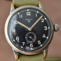 WAGNER UROFA 58 36MM MANUAL WIND MILITARY STYLE BLACK DIAL...