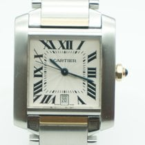 Cartier Tank Française Large 18k yellow Gold/ Steel