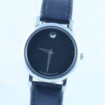 Movado Damen Uhr 25mm Stahl/stahl Museum Watch Rar Klassiker