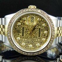 Rolex Mens Rolex Datejust 2 Tone 18k Gold 36MM Steel Jubilee...