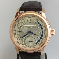 Frederique Constant Manufacture Worldtimer Rose Gold PVD New...