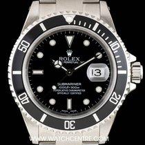 Ρολεξ (Rolex) S/S Black Dial Submariner Date Gents NOS B&P...