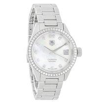TAG Heuer Carrera Diamond Ladies MOP Automatic Watch WAR2415.B...