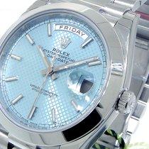 Rolex Day-date 228206 Presidential 40 Mm Platinum Ice Blue...