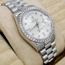 Rolex President Day-date 18206 Platinum Factory Diamond Dial...