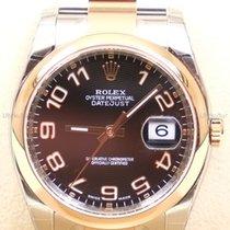 Rolex Datejust,Ref. 116201 - schwarz arabisch koncav ZB/Oyster...