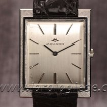 Movado 18 Kt. White Gold Vintage Xltank-style Watch Cal. 245...