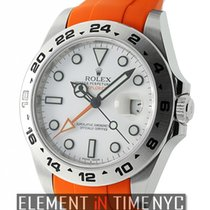 Rolex Explorer II 42mm White Dial On Orange Rubber B