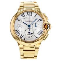 Cartier Ballon Bleu Gold Automatic Chronograph Silver Dial...