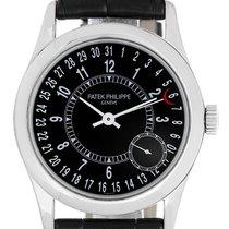 Patek Philippe Calatrava 18k White Gold Men's Watch 6000...