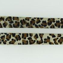 Cartier Textil-Lederband / Leoprint - 13,2 / 12 Länge 80 / 85