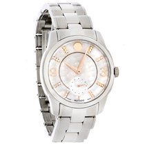 Movado LX Ladies Diamond MOP Two Tone Swiss Quartz Watch 0606619