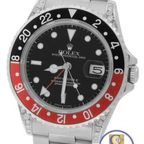 ロレックス (Rolex) GMT-Master II Coke 40mm Black Red DIAMOND LUGS...