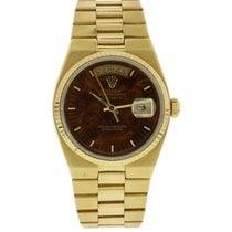 Ρολεξ (Rolex) Oysterquartz Day-Date 18K YG 19018 Wood Dial