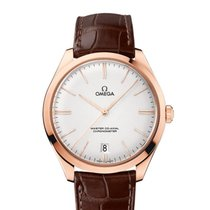 Omega DeVille Tresor 18KT Sedna Rose Gold Mens Watch 432.53.40...