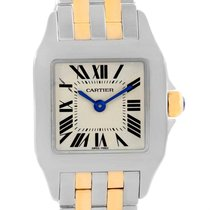 Cartier Santos Demoiselle Steel Yellow Gold Ladies Watch W25066z6