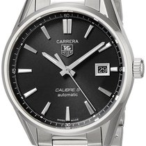 TAG Heuer Carrera Calibre 5 Black Dial Automatic Steel Men...