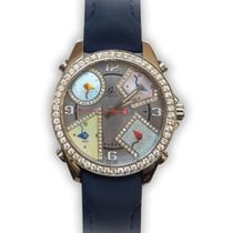 Jacob & Co. Five Time Zone Diamonds Stainless Steel Unisex...