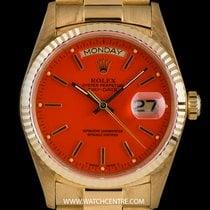 Ρολεξ (Rolex) 18k Y/G O/P Orange Enamel Stella Dial Vintage...