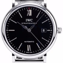 IWC IW356506 Portofino Automatic 40mm Stainless Steel Black Dial
