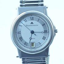 Maurice Lacroix Herren Uhr 34mm Stahl/stahl Quartz Uhrwerk Defekt