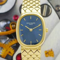 Patek Philippe blaue ELLIPSE Lady Gold 4764 FULLSET  + PP...