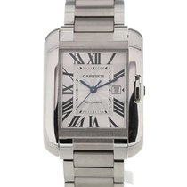 Cartier Tank Anglaise Silver Dial Date