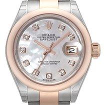 Rolex Datejust 28  Edelstahl Everose‑Gold 279161 Perlmutt Diamant