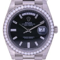 Rolex Day-Date 40 White Gold Factory Diamond