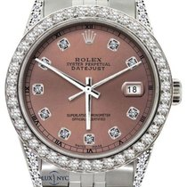 Rolex Datejust Men's 36mm Pink Campaign Dial Stainless...