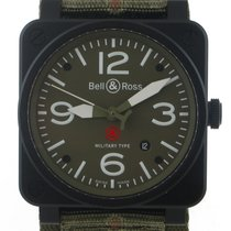Bell & Ross 2016 BR03-92 42MM Military Type Green Dial 4...