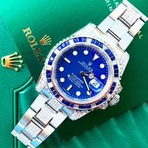 Rolex Submariner Date Custom Sapphire & Diamonds