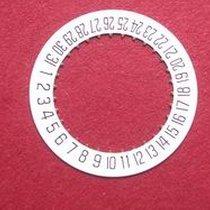 Cartier 87 Datumsscheibe, schwarze Schrift auf weißem Grund...