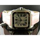 Cartier Santos 100 Oro Rosa, Acciaio Ref: W20107x7