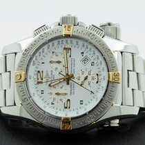 Breitling Emergency Gold Steel Pilotband White Dial 44 mm...