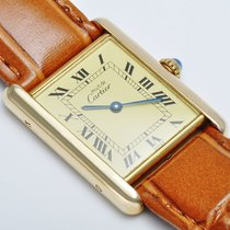 Cartier Tank Vermeil 925 vergoldet Ref. 590005 Quartz 30 x 23 mm