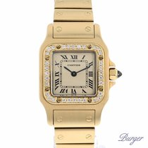 Cartier Santos Galbee PM Yellow Gold Diamonds