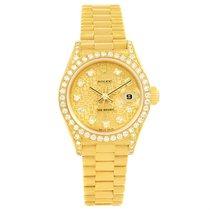 Rolex President Crown Collection Yellow Gold Diamond Ladies...