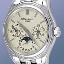 "Patek Philippe Gent's 18K White Gold  Ref # 5136 ""Perp..."