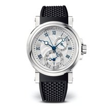 Breguet Marine GMT Automatic Silver Dial Strap Ladies Watch...