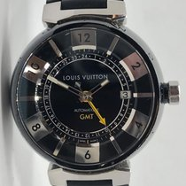 Louis Vuitton Tambour Automatic Gmt Stainless Steel Q113k On A...