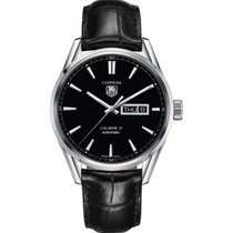 TAG Heuer Carrera Calibre 5 Day-Date Automatic Black Alligator...