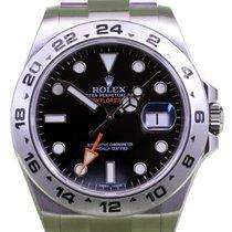 Rolex Explorer II 216570 Black 42mm GMT Stainless Steel Steve...