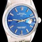 Rolex Oyster Perpetual Date 34 mm fond bleu