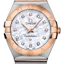 Omega Constellation Stahl/18 kt Roségold Quarz Diamond 27 mm