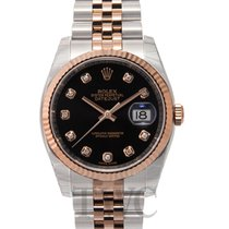 롤렉스 (Rolex) Datejust Gold/Steel Black/18k rose gold Ø36 mm -...