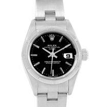 Rolex Datejust Stainless Steel Black Baton Dial Ladies Watch...