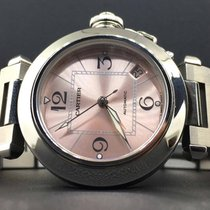 Cartier Pasha Ladies 35mm Stainless Steel Date Pink Dial...