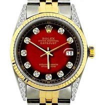 Rolex Datejust Men's 36mm Red And Black Dial Stainless...