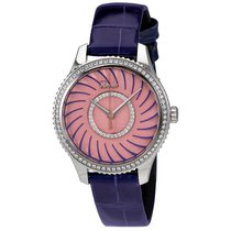 Dior VIII Montaigne Pink Opaline Dial Diamond Ladies Watch